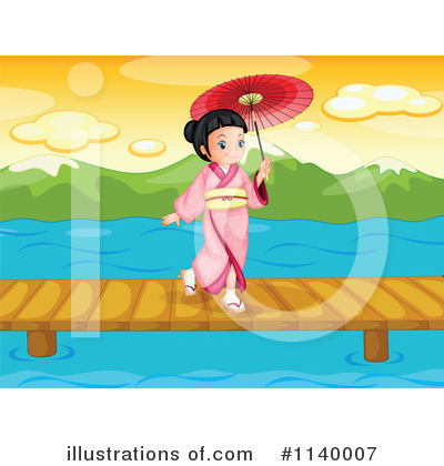 Geisha Clipart #1140007 by Graphics RF