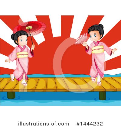 Geisha Clipart #1444232 by Graphics RF