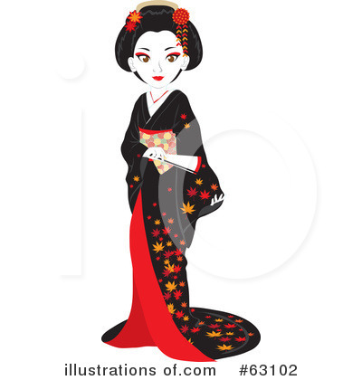 Royalty-Free (RF) Geisha Clipart Illustration by Rosie Piter - Stock Sample #63102