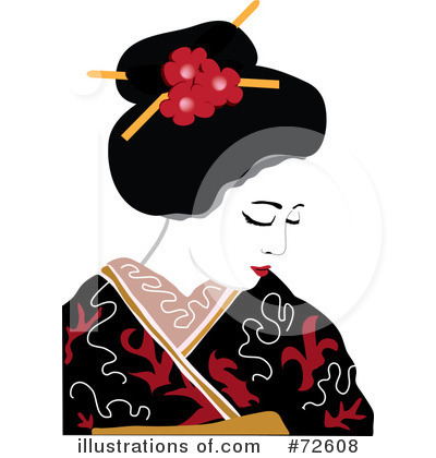 Royalty-Free (RF) Geisha Clipart Illustration by Pams Clipart - Stock Sample #72608
