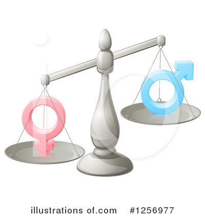 Royalty-Free (RF) Gender Clipart Illustration by AtStockIllustration - Stock Sample #1256977