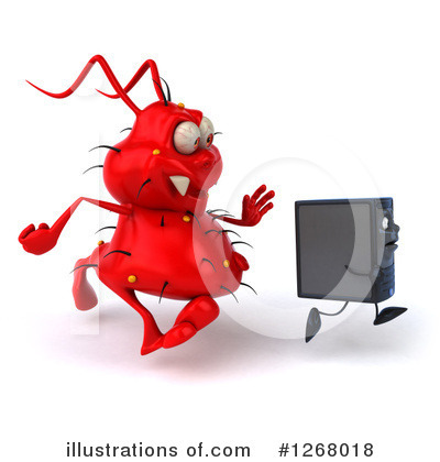 Computer Tower Character Clipart #1268018 by Julos