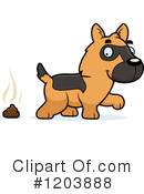 German Shepherd Clipart #1203888 by Cory Thoman