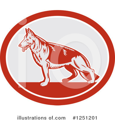 German Shepherd Clipart #1251201 by patrimonio