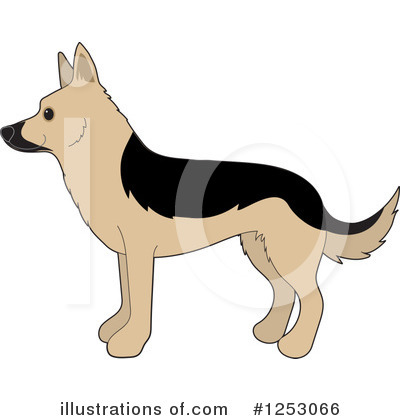 German Shepherd Clipart #1253066 by Maria Bell
