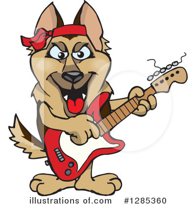 German Shepherd Clipart #1285360 by Dennis Holmes Designs