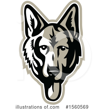 German Shepherd Clipart #1560569 by patrimonio