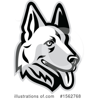 Royalty-Free (RF) German Shepherd Clipart Illustration by patrimonio - Stock Sample #1562768