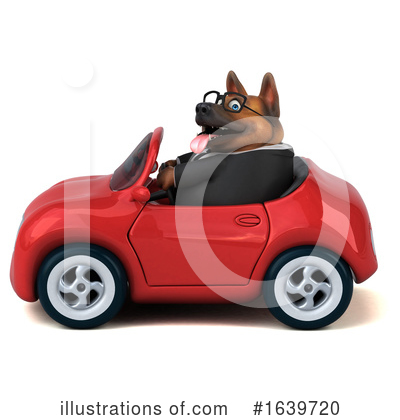 Royalty-Free (RF) German Shepherd Clipart Illustration by Julos - Stock Sample #1639720