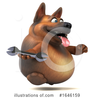 Royalty-Free (RF) German Shepherd Clipart Illustration by Julos - Stock Sample #1646159