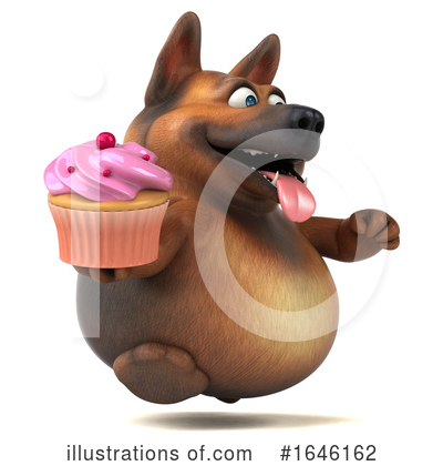 Royalty-Free (RF) German Shepherd Clipart Illustration by Julos - Stock Sample #1646162
