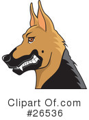 German Shepherd Clipart #26536 by David Rey