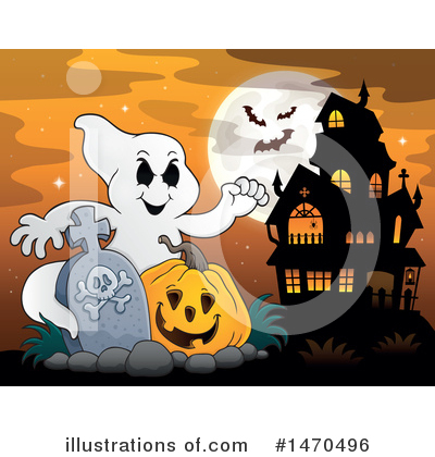 Haunted House Clipart #1470496 by visekart