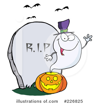 Royalty-Free (RF) Ghost Clipart Illustration by Hit Toon - Stock Sample #226825