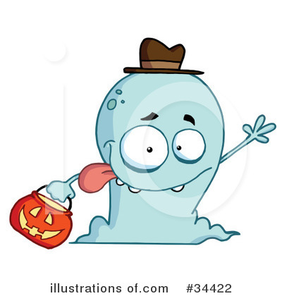 Royalty-Free (RF) Ghost Clipart Illustration by Hit Toon - Stock Sample #34422