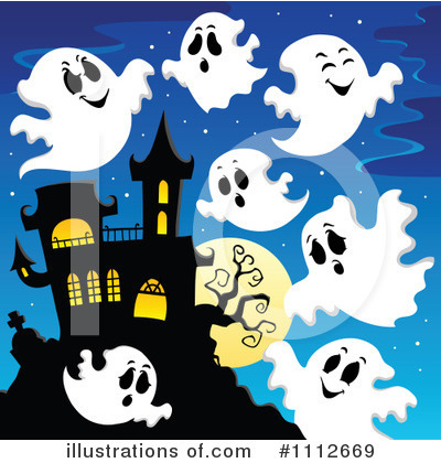 Haunted House Clipart #1112669 by visekart