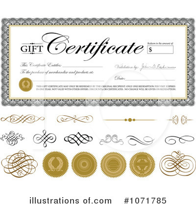 Royalty-Free (RF) Gift Certificate Clipart Illustration by BestVector - Stock Sample #1071785