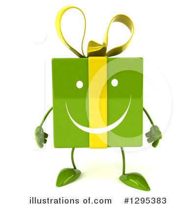 Green Gift Character Clipart #1295383 by Julos
