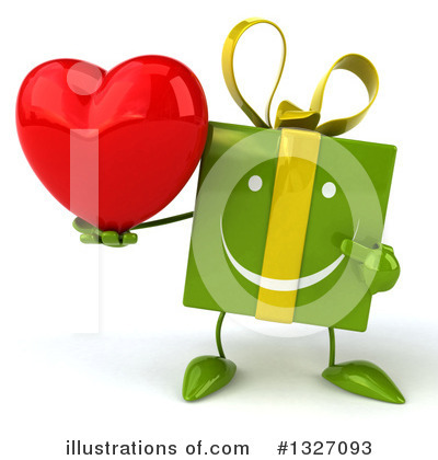 Green Gift Character Clipart #1327093 by Julos