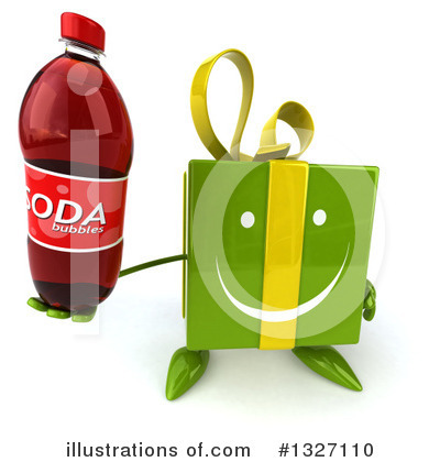 Green Gift Character Clipart #1327110 by Julos