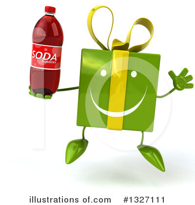 Green Gift Character Clipart #1327111 by Julos