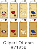 Royalty-Free (RF) Gift Tag Clipart Illustration #71952