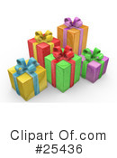 Royalty-Free (RF) Gifts Clipart Illustration #25436