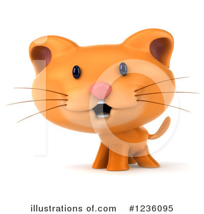 Royalty-Free (RF) Ginger Cat Clipart Illustration by Julos - Stock Sample #1236095