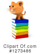 Ginger Cat Clipart #1273486 by Julos