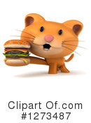 Ginger Cat Clipart #1273487 by Julos