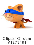 Ginger Cat Clipart #1273491 by Julos