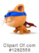 Ginger Cat Clipart #1282559 by Julos