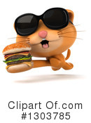 Ginger Cat Clipart #1303785 by Julos