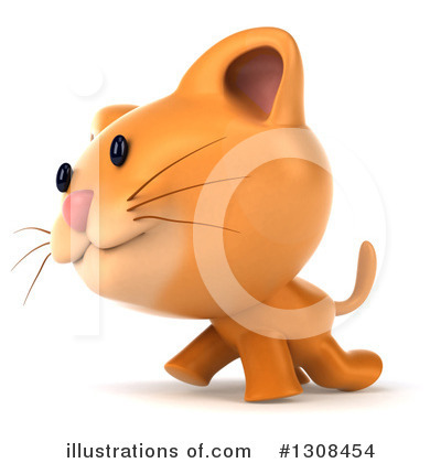 Ginger Cat Clipart #1308454 by Julos