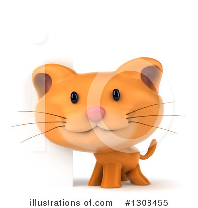 Ginger Cat Clipart #1308455 by Julos