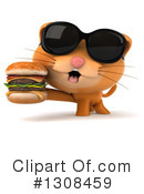 Ginger Cat Clipart #1308459 by Julos