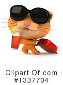 Ginger Cat Clipart #1337704 by Julos
