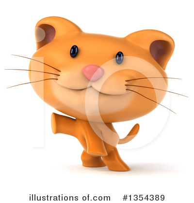 Ginger Cat Clipart #1354389 by Julos