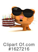 Ginger Cat Clipart #1627216 by Julos