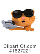 Ginger Cat Clipart #1627221 by Julos