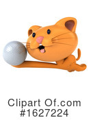 Ginger Cat Clipart #1627224 by Julos