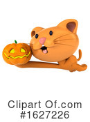 Ginger Cat Clipart #1627226 by Julos