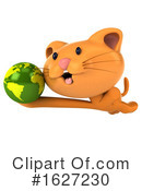Ginger Cat Clipart #1627230 by Julos
