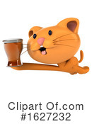 Ginger Cat Clipart #1627232 by Julos