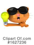 Ginger Cat Clipart #1627236 by Julos