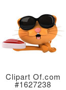 Ginger Cat Clipart #1627238 by Julos