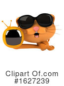 Ginger Cat Clipart #1627239 by Julos