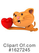 Ginger Cat Clipart #1627245 by Julos
