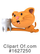Ginger Cat Clipart #1627250 by Julos