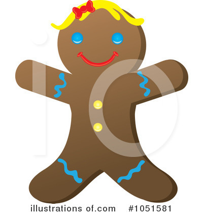 Gingerbread Woman Clipart #1051581 by Rosie Piter
